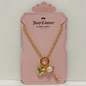 Juicy Couture Key & Heart Charm Necklace